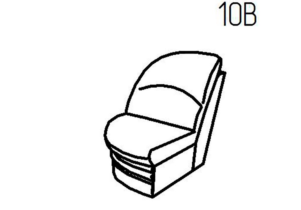 Секция пуф 10Б, 10В Верона