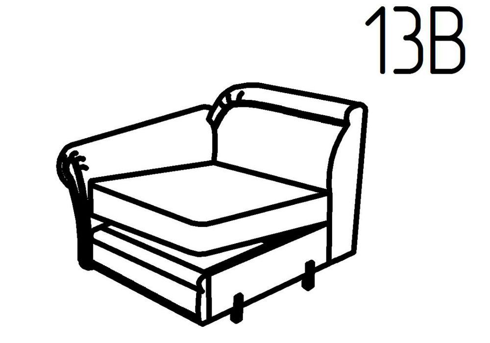 Секция кресельная 13Б, 13В Неаполь