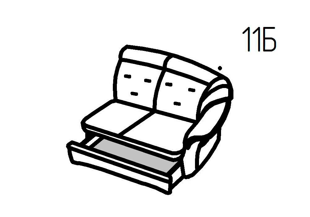 Секция диванная 11Б, 11В Магнат