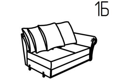 Секция диванная 1Б, 1В Неаполь