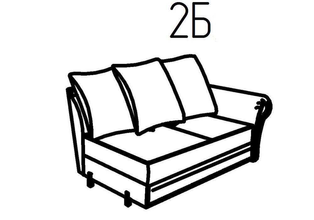 Секция диванная 2Б, 2В Неаполь