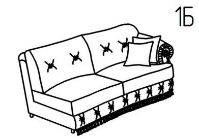 Секция диванная 1Б, 1В Августа