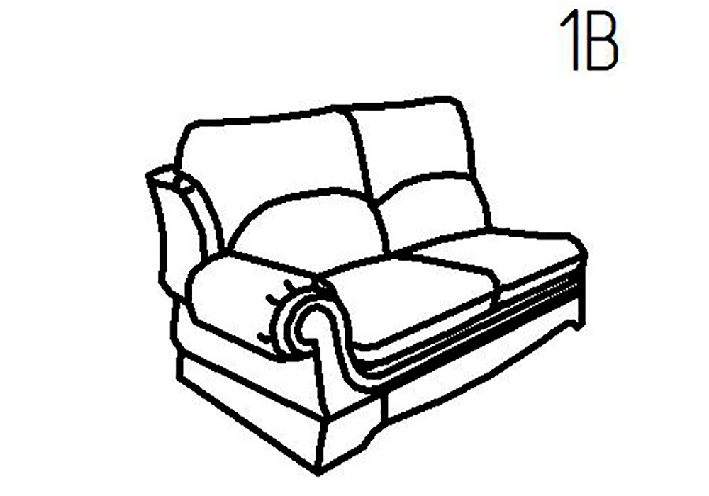 Секция диванная 1Б, 1В Верона