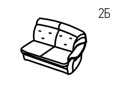 Секция диванная 2Б, 2В Магнат