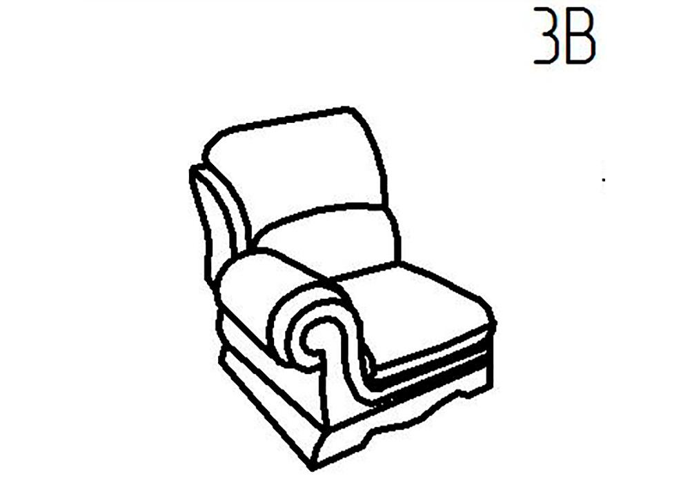 Секция кресельная 3Б, 3В Верона