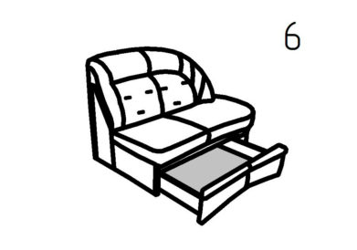 Секция диванная 6, 6А Магнат