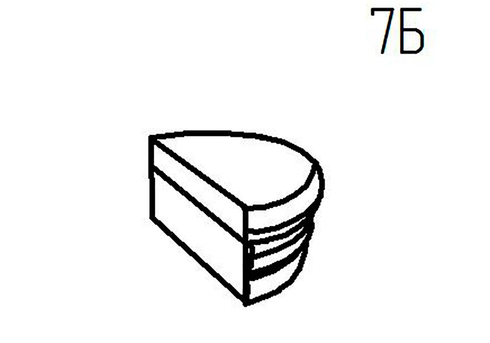 Секция пуф 7Б, 7В Верона