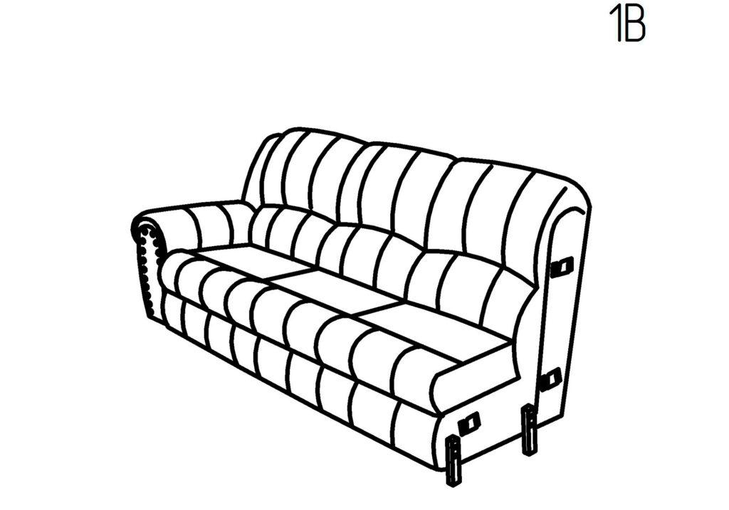 Секция диванная 1Б, 1В Умберто-Понти