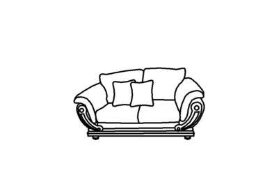 Малый диван Армани